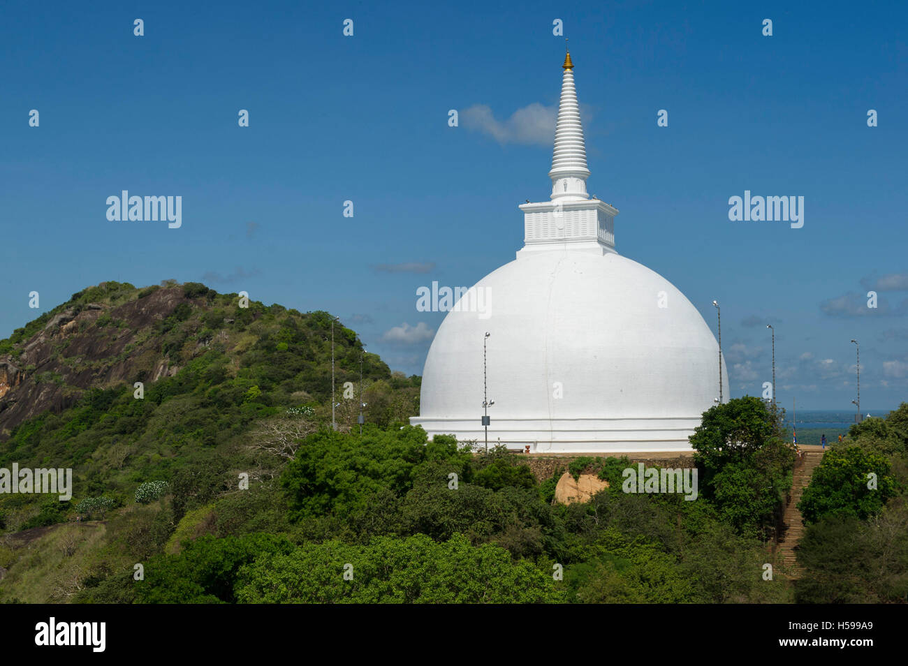 Mahaseya Dagoba, Mihintale temple, Anuradhapura, Sri Lanka Stock Photo