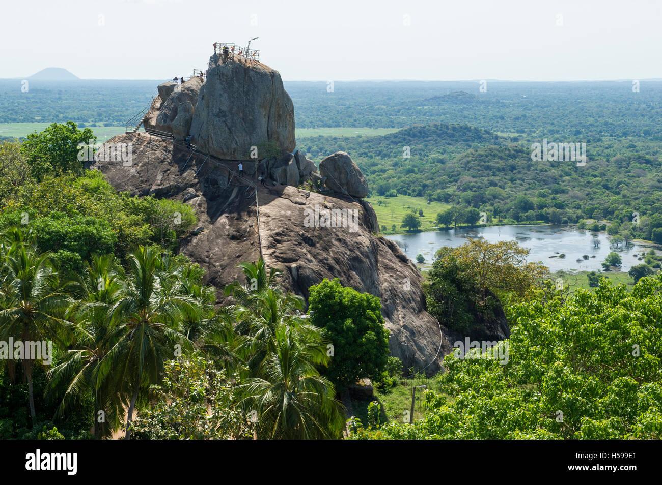Aradhana Gala Rock, Mihintale, Anuradhapura, Sri Lanka Stock Photo