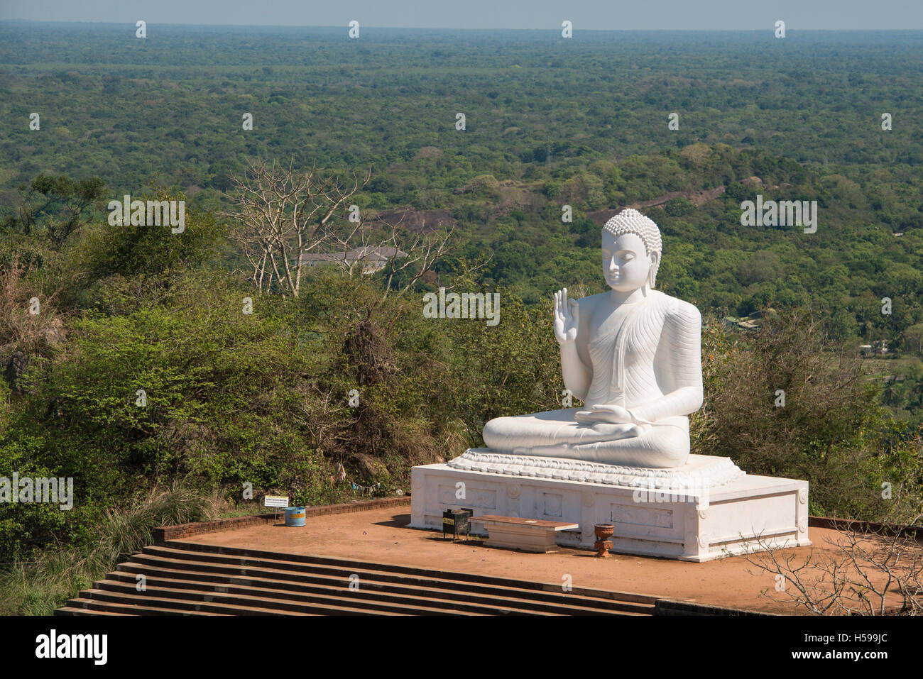 The great seated Buddha at Mihintale, Anuradhapura, Sri Lanka Stock Photo