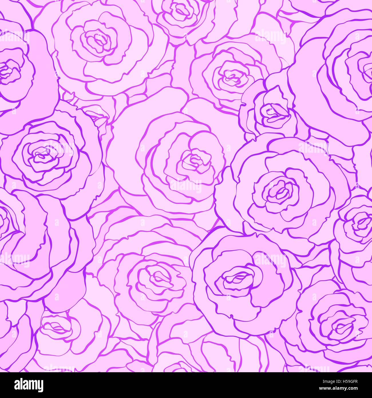 Seamless Vintage Floral Pattern Background With Flowers Of Rose
