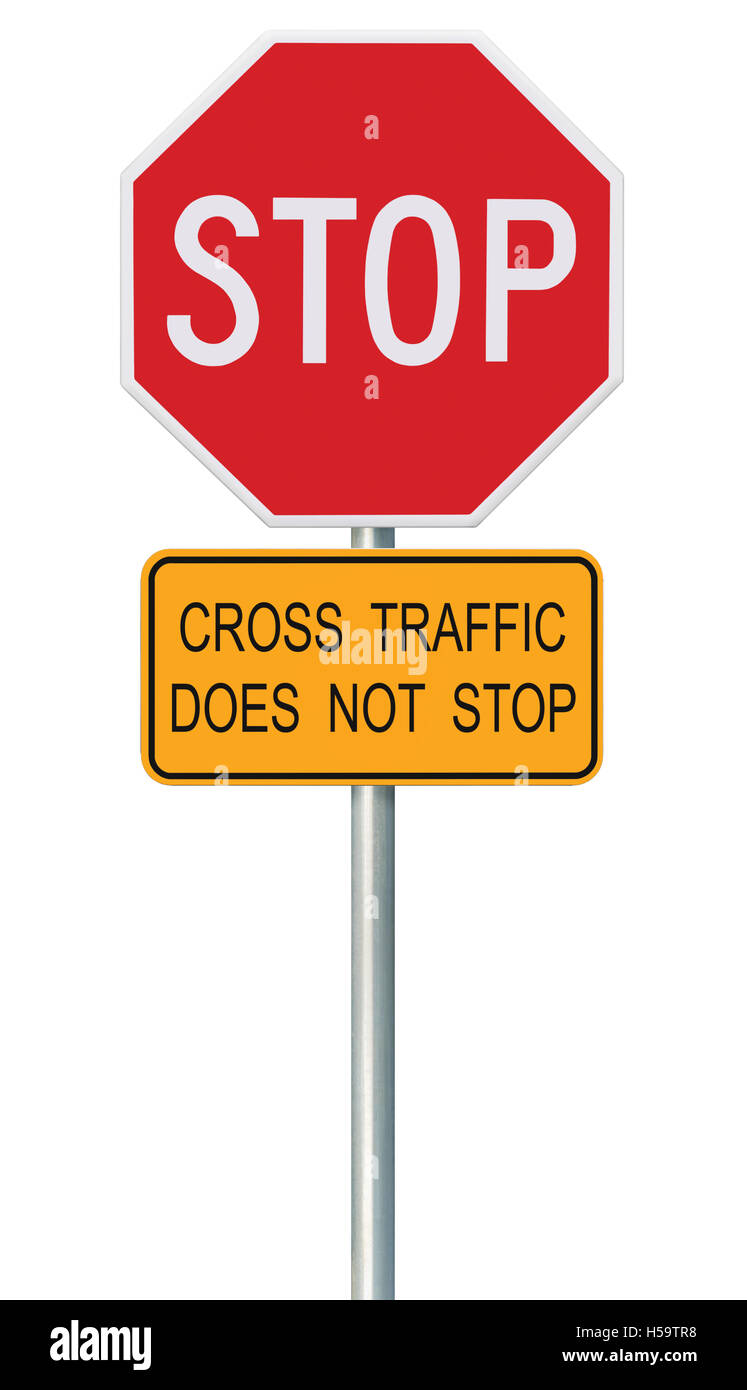 red stop sign isolated road traffic regulatory warning signage