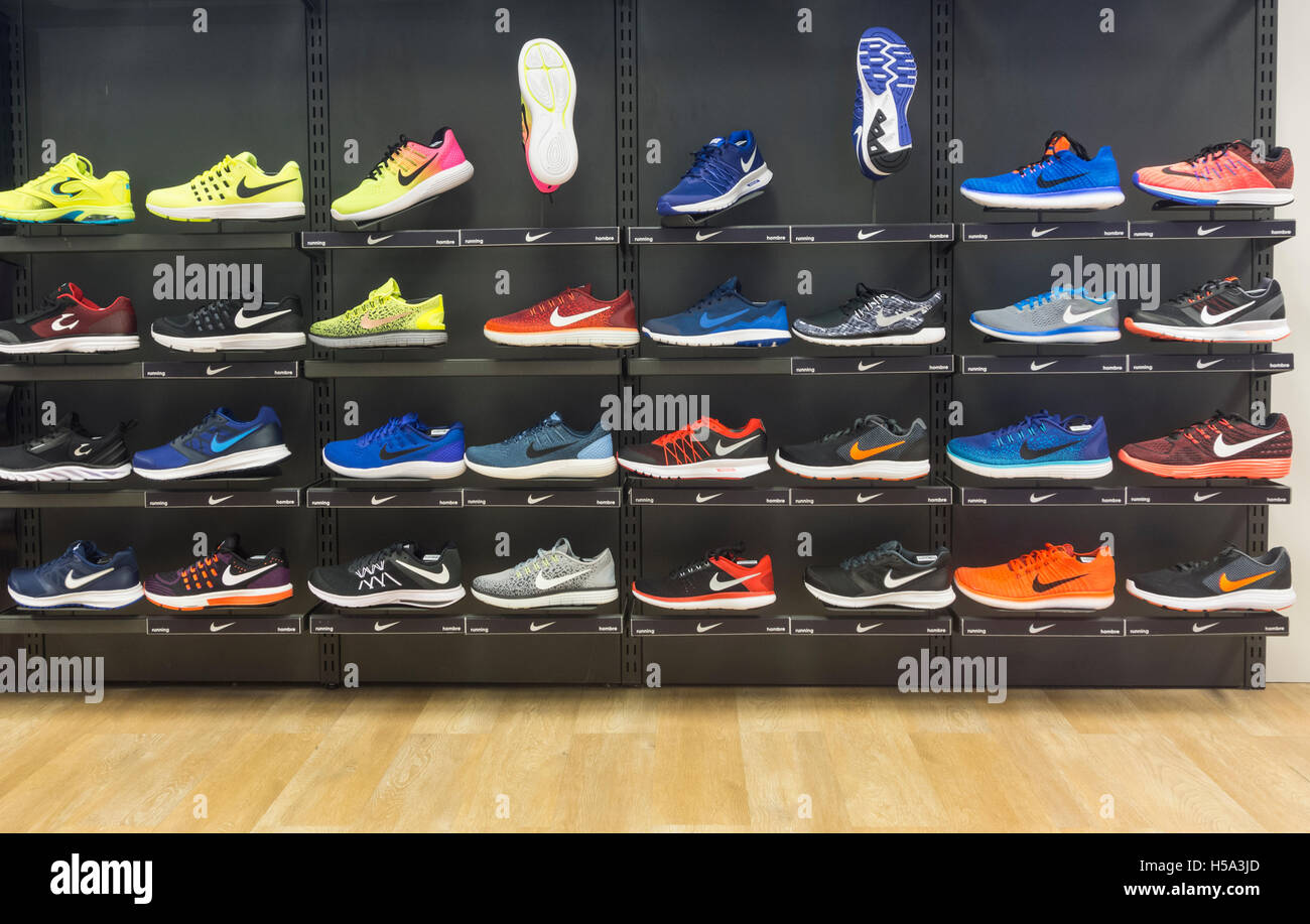 Nike Running Shoes Store Display
