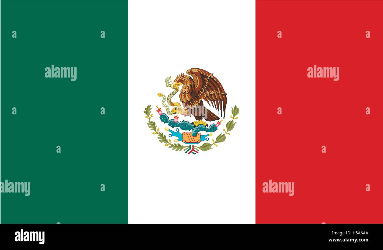 Mexico flag image - Stock Image