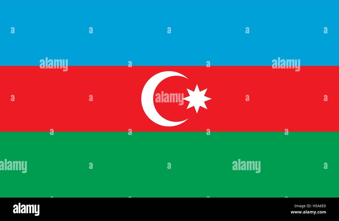 Azerbaijan flag image - Stock Vector