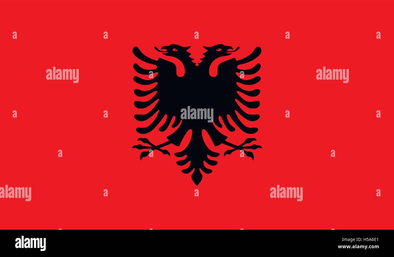 Albania flag image - Stock Vector