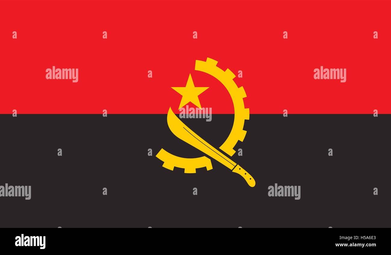 Angola flag image - Stock Vector