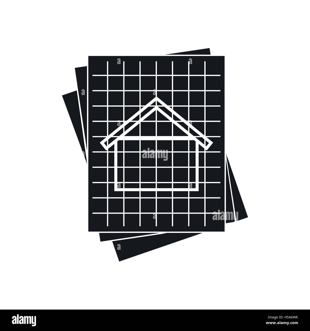 House blueprint icon simple style stock vector art illustration house blueprint icon simple style malvernweather Images