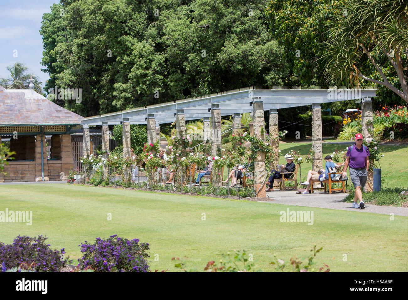 Rose garden in Sydney Royal Botanic Gardens in the city centre ,Australia - Stock Image