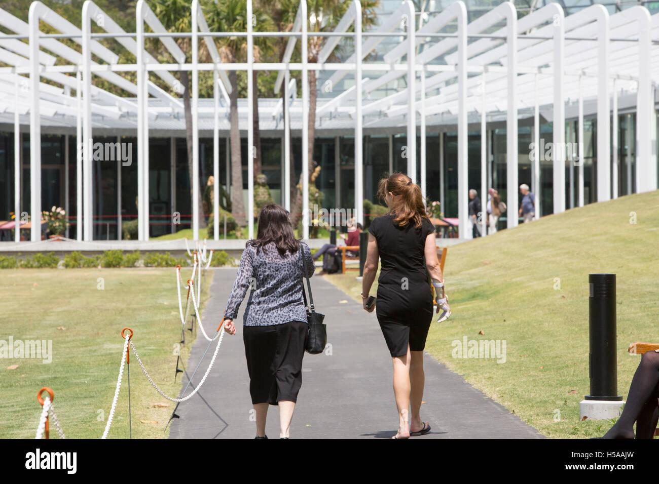 Calyx exhibition building in Sydney Royal Botanic Garden in the city centre ,Australia - Stock Image