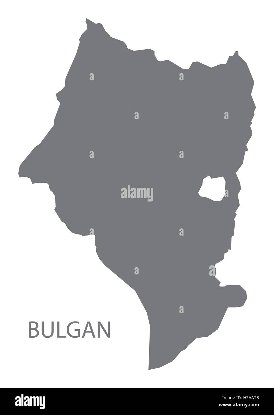 Bulgan Mongolia Map grey - Stock Vector