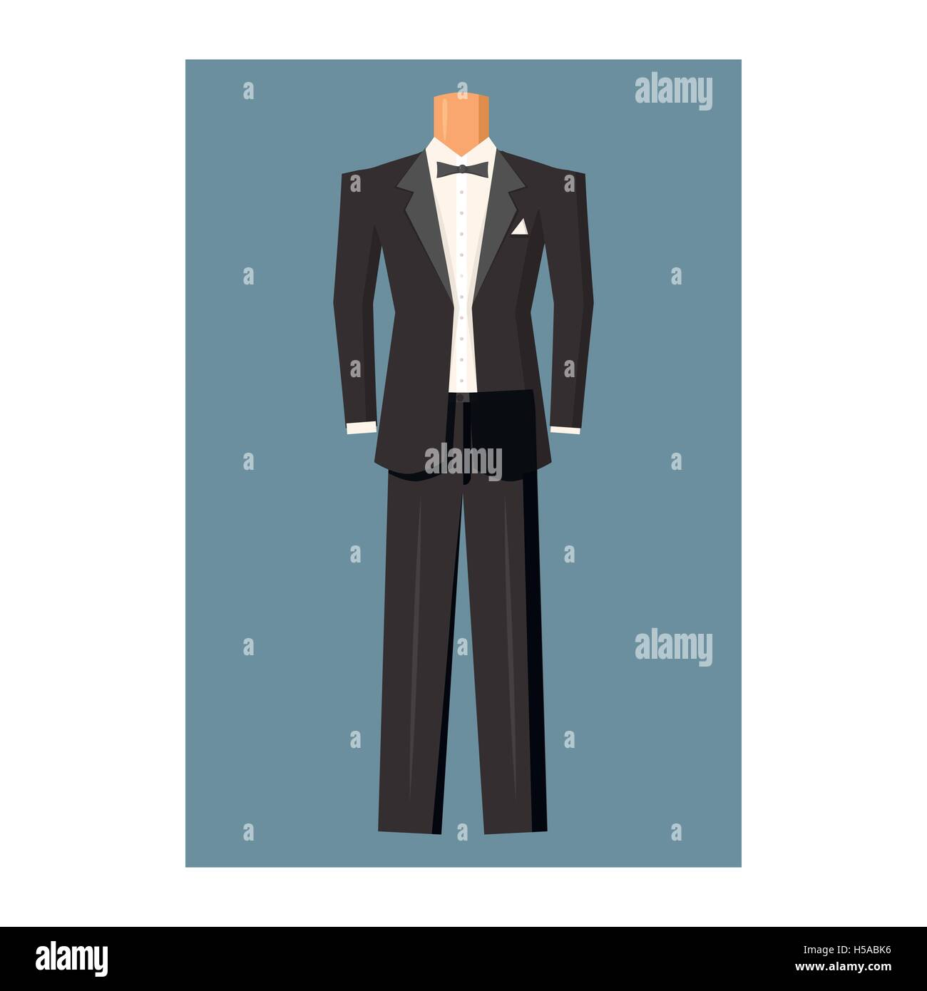 Tuxedo Shirt Stock Vector Images - Alamy
