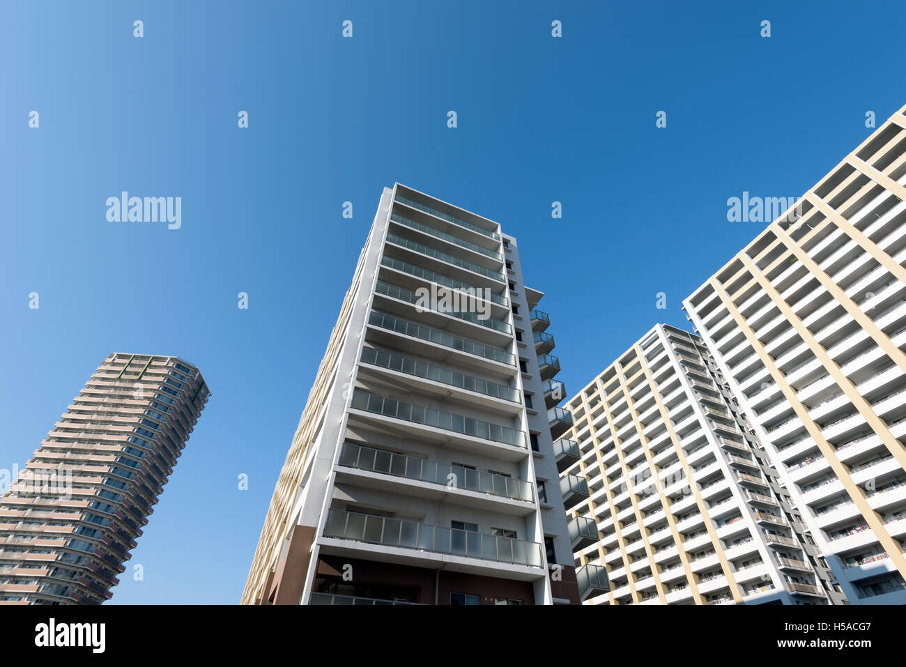 Osaka, Japan – November 30 2015: Modern condominium in Osaka, Japan near near the Osaka harbor, Cosmo Tower. - Stock Image