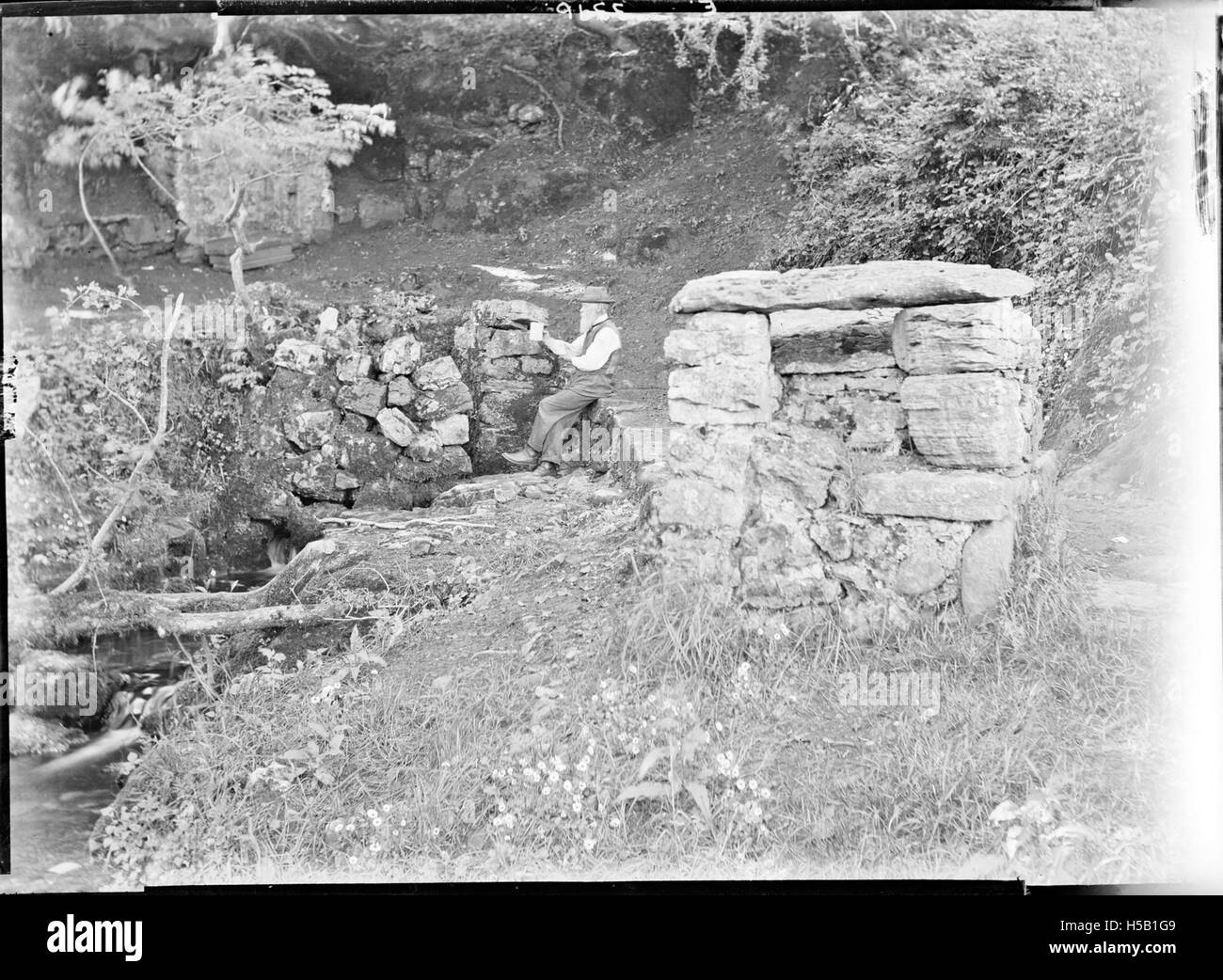 2 The Old Man of the Holy Well - Stock Image