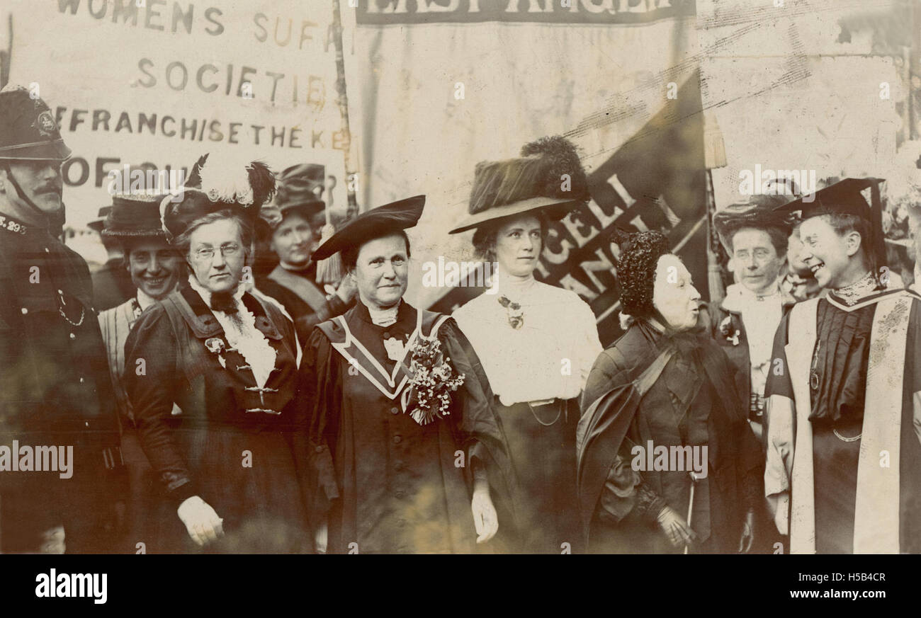 Frances Balfour, Millicent Fawcett, Emily Davies and others, c.1910. - Stock Image