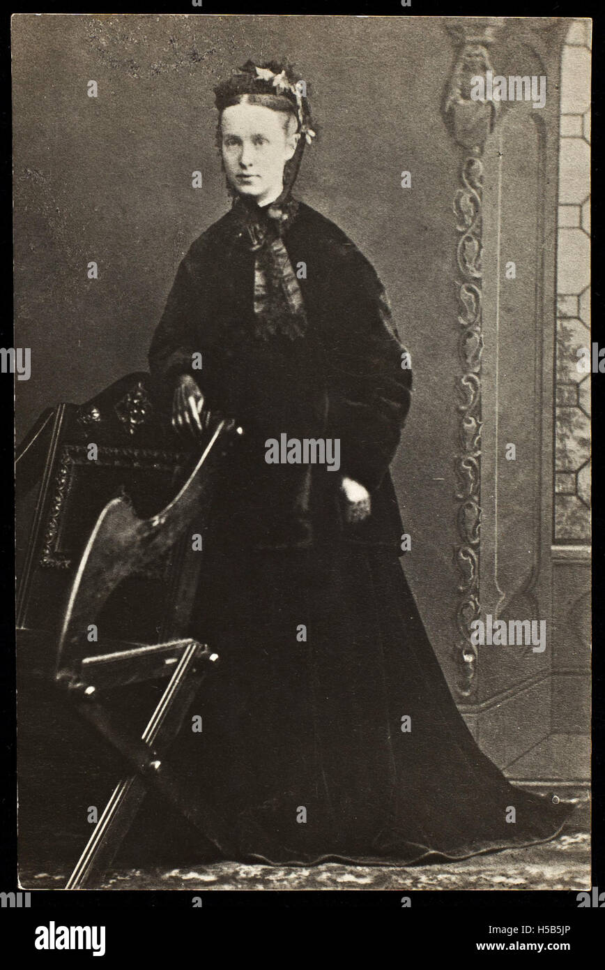Photograph of Millicent Garrett Fawcett, 1890. - Stock Image