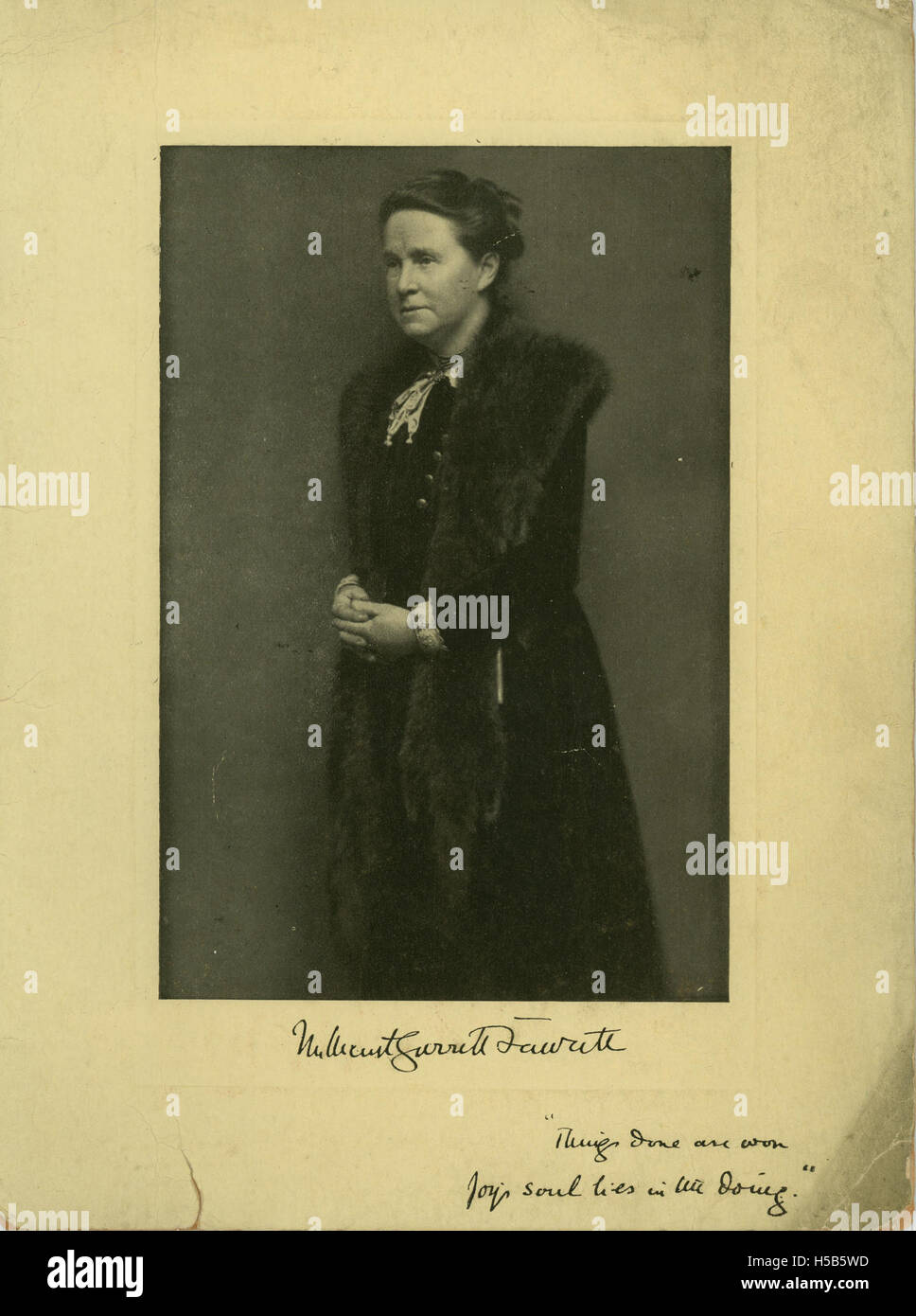 Millicent Garrett Fawcett - Stock Image