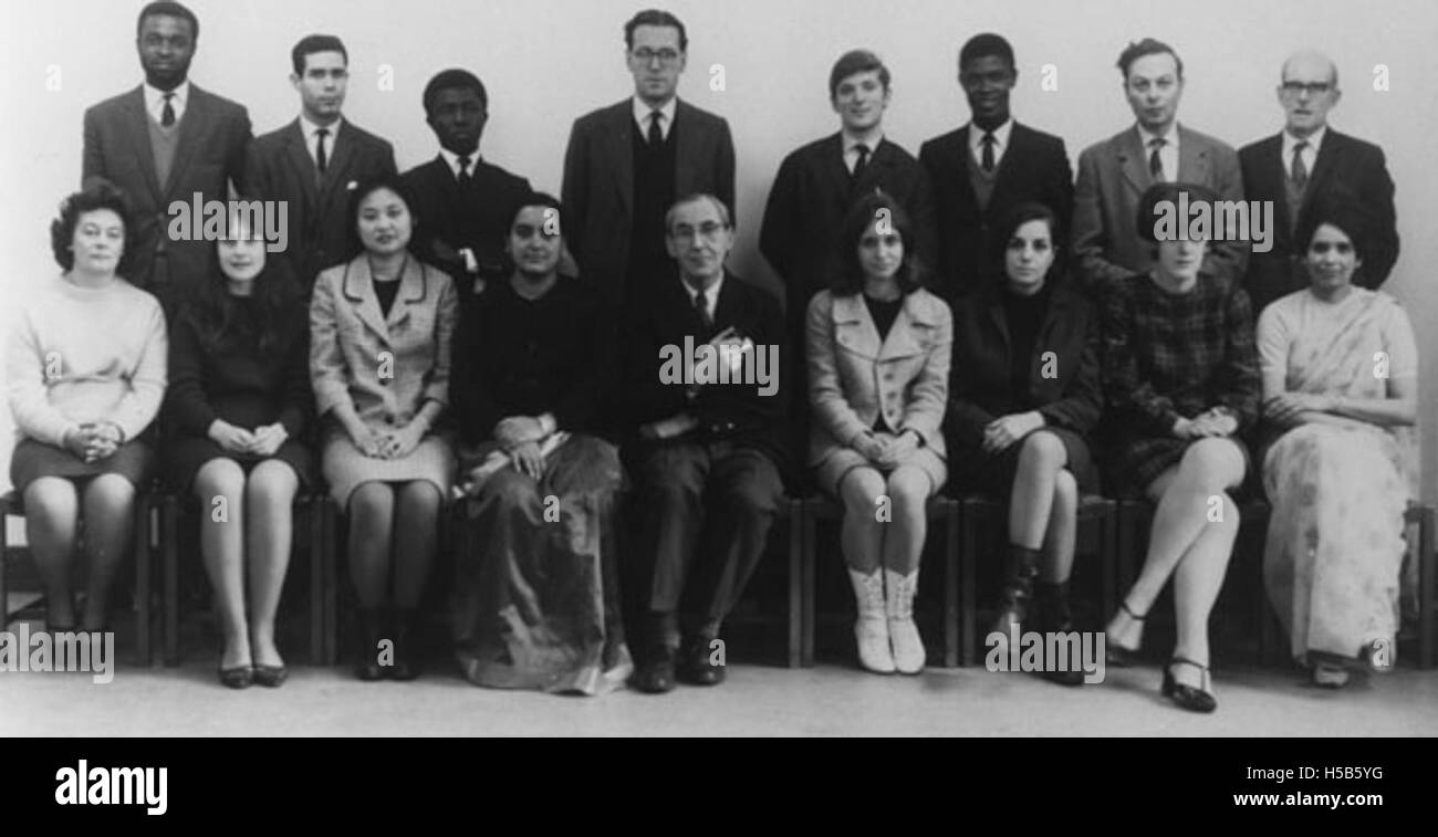 Population Studies Group 1966-1967 - Stock Image