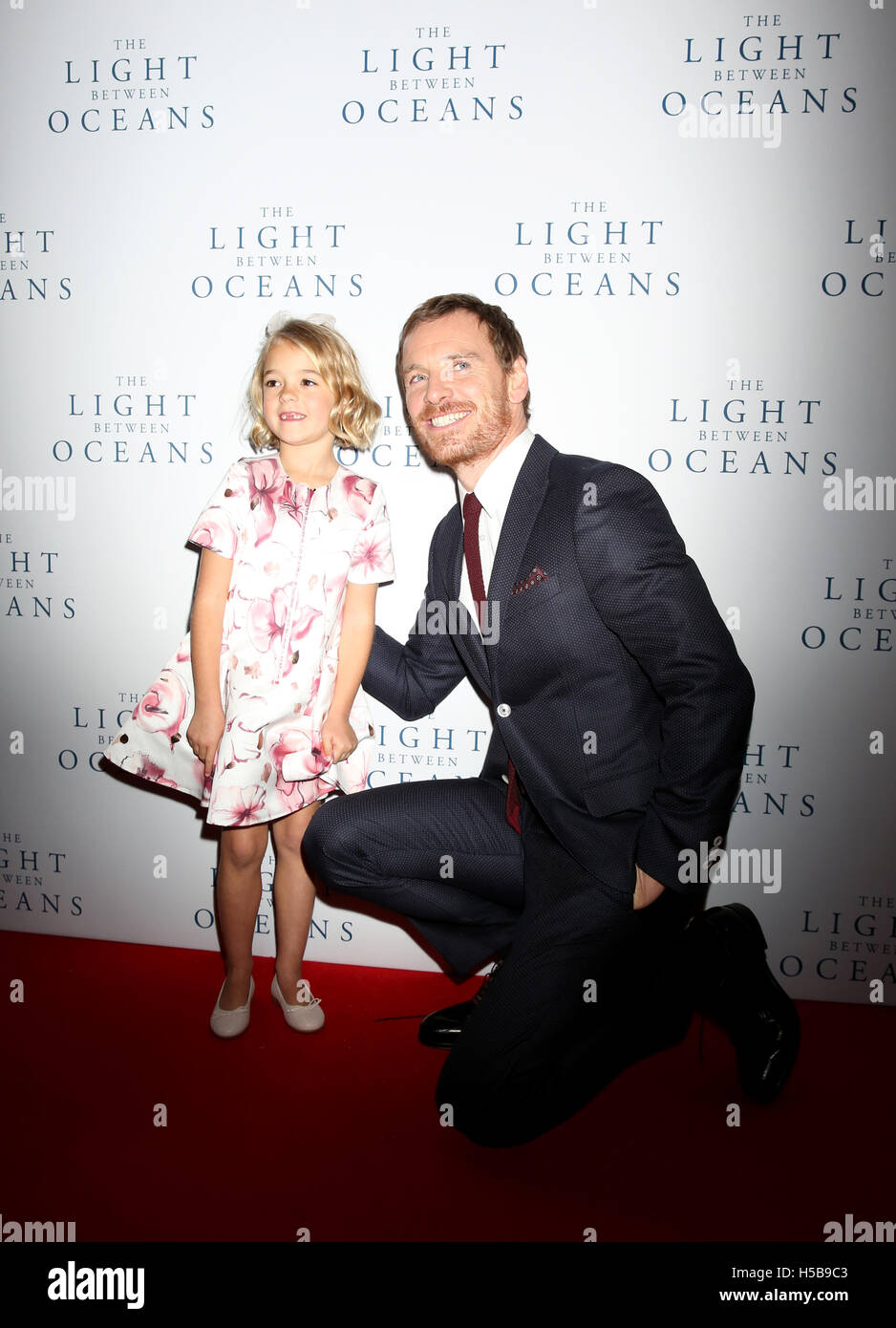 Michael Fassbender And Florence Clery Attending The The Light Between Oceans  UK Premiere, At Curzon Mayfair, London. See PA Story SHOWBIZ Ocean.