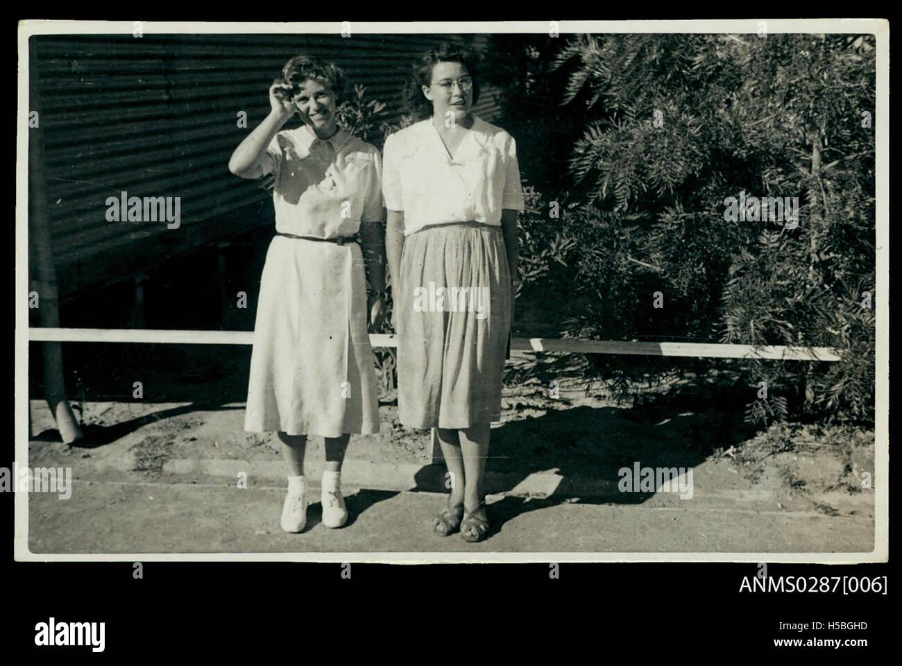 Australian English teachers at Bonegilla Camp - Stock Image