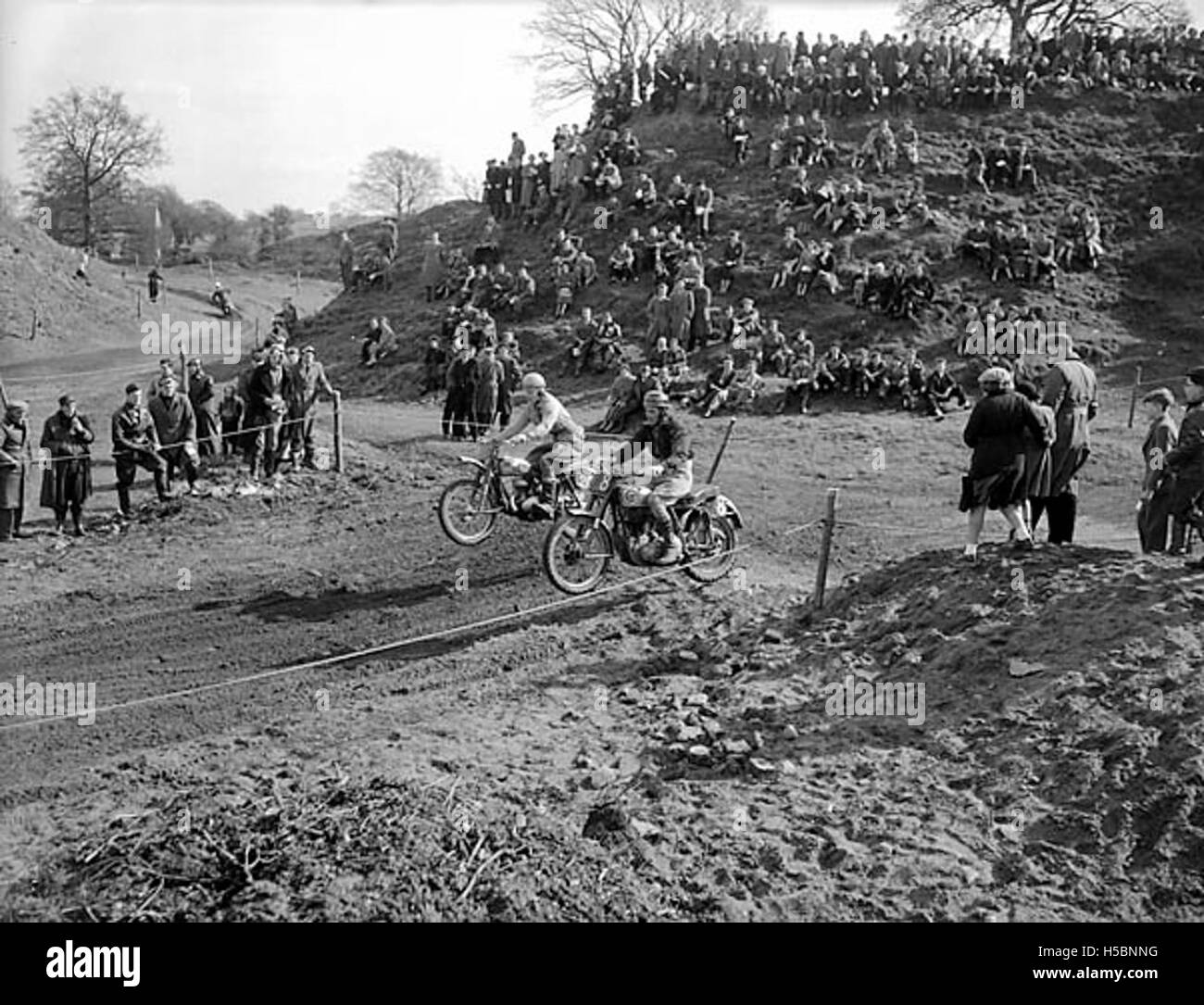 Motorcycle scramble at Queenshead, Oswestry - Stock Image