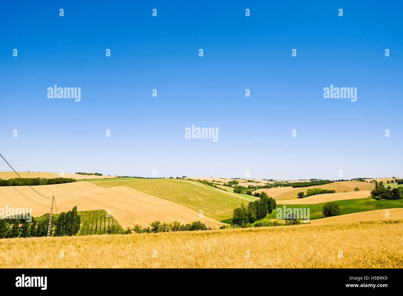 Landscape near Toulouse, France - Stock Image