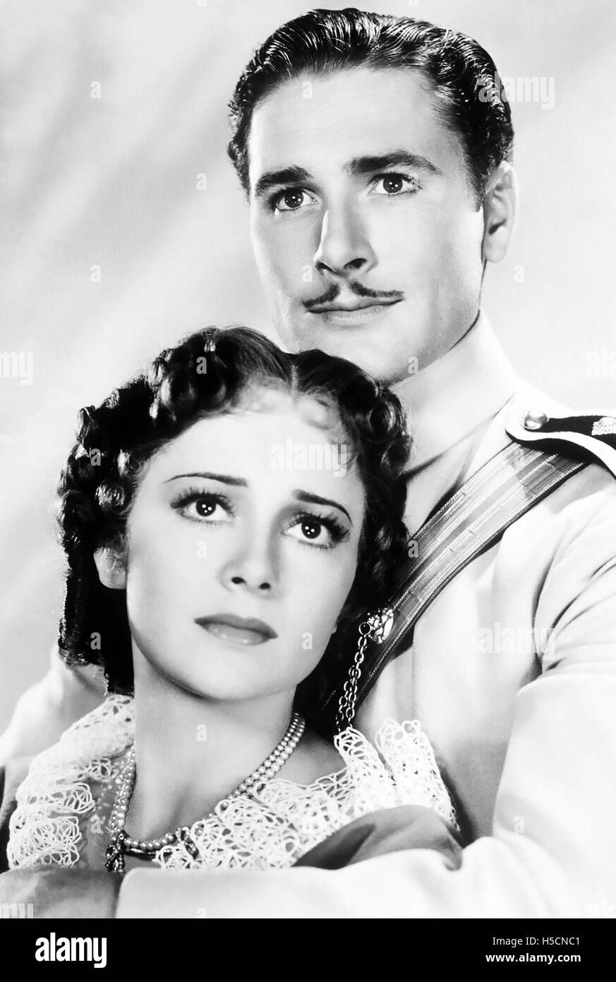 THE CHARGE OF THE LIGHT BRIGADE 1936 Warner Bros film with Errol Flynn and Olivia de Havilland - Stock Image