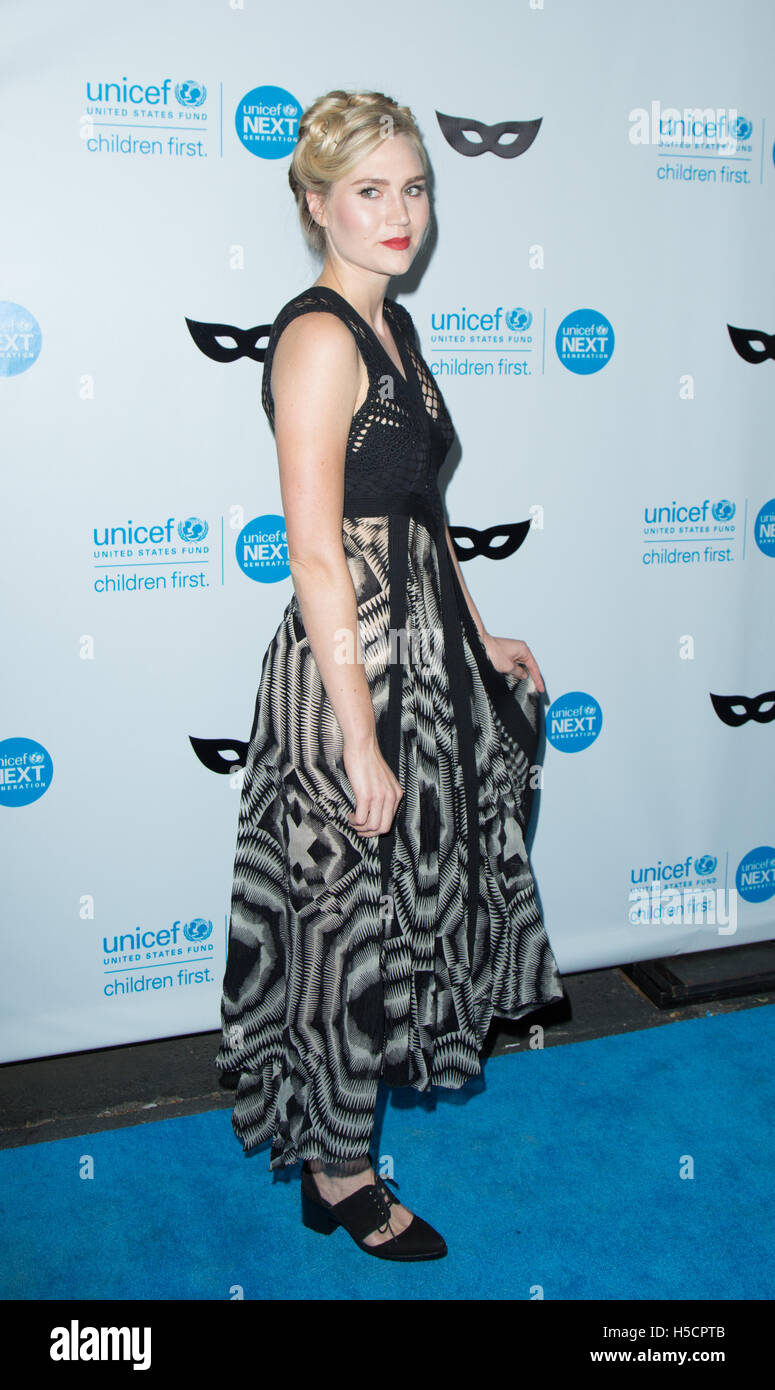 Nora Kirkpatrick attends UNICEF Black & White Masquerade Ball at Masonic Lodge at Hollywood Cemetery on October - Stock Image
