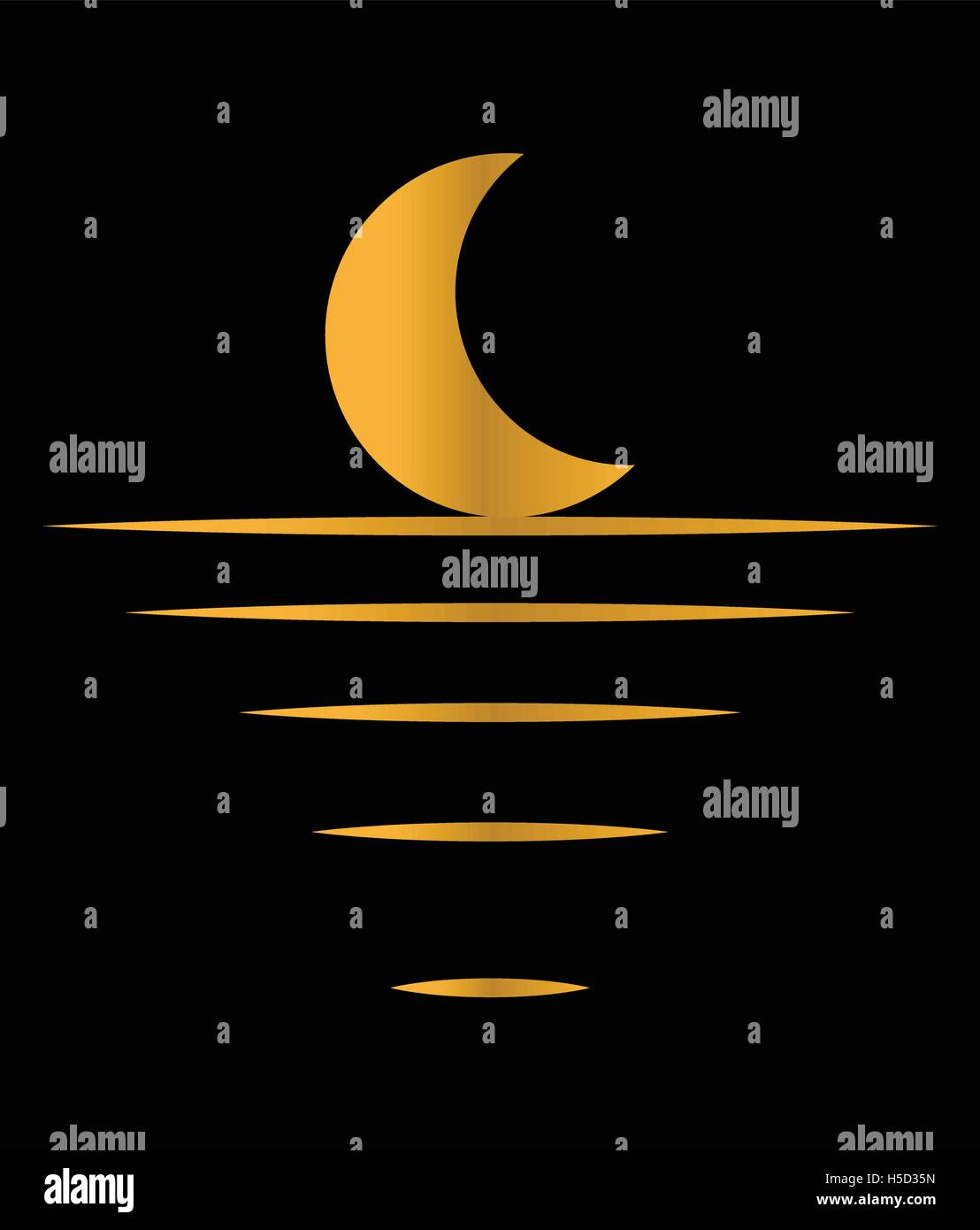 Moon Light Concept Design. Crescent, EPS 10 supported. Stock Vector