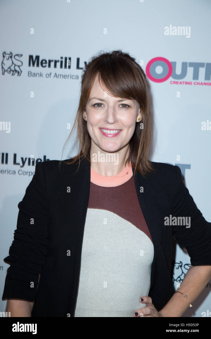 Rosemarie DeWitt attends the 11th annual Outfest Legacy Awards, co-presented by Merrill Lynch and Louis Vuitton - Stock Image