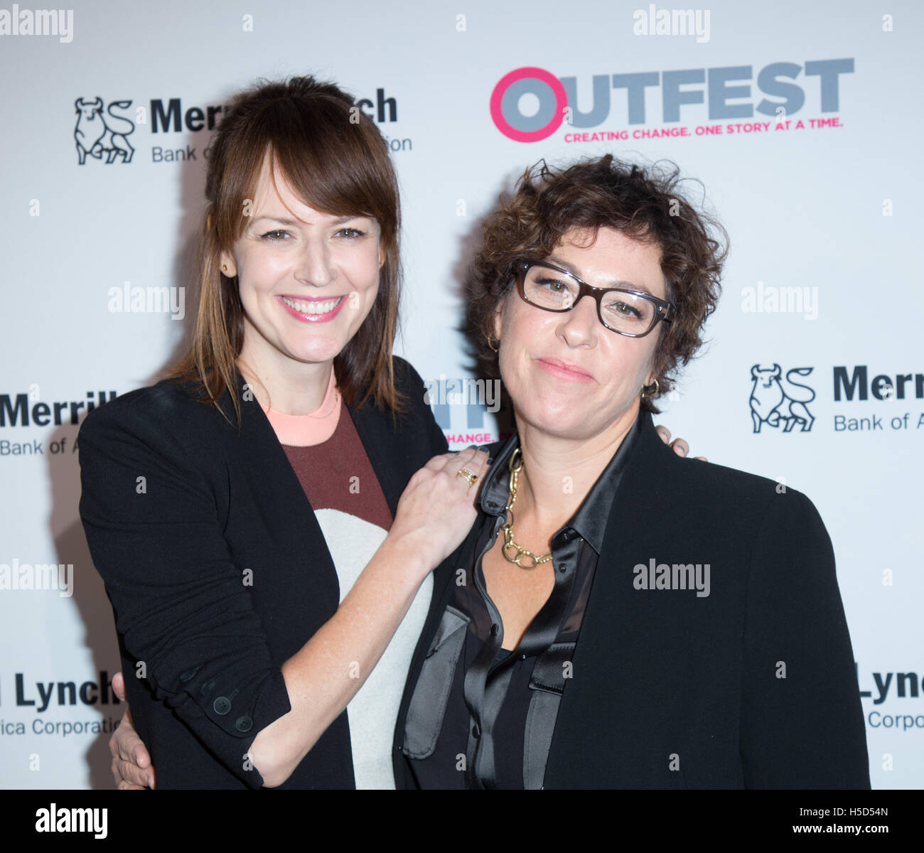 Rosemarie DeWitt and Lisa Cholodenko attend the 11th annual Outfest Legacy Awards, co-presented by Merrill Lynch - Stock Image