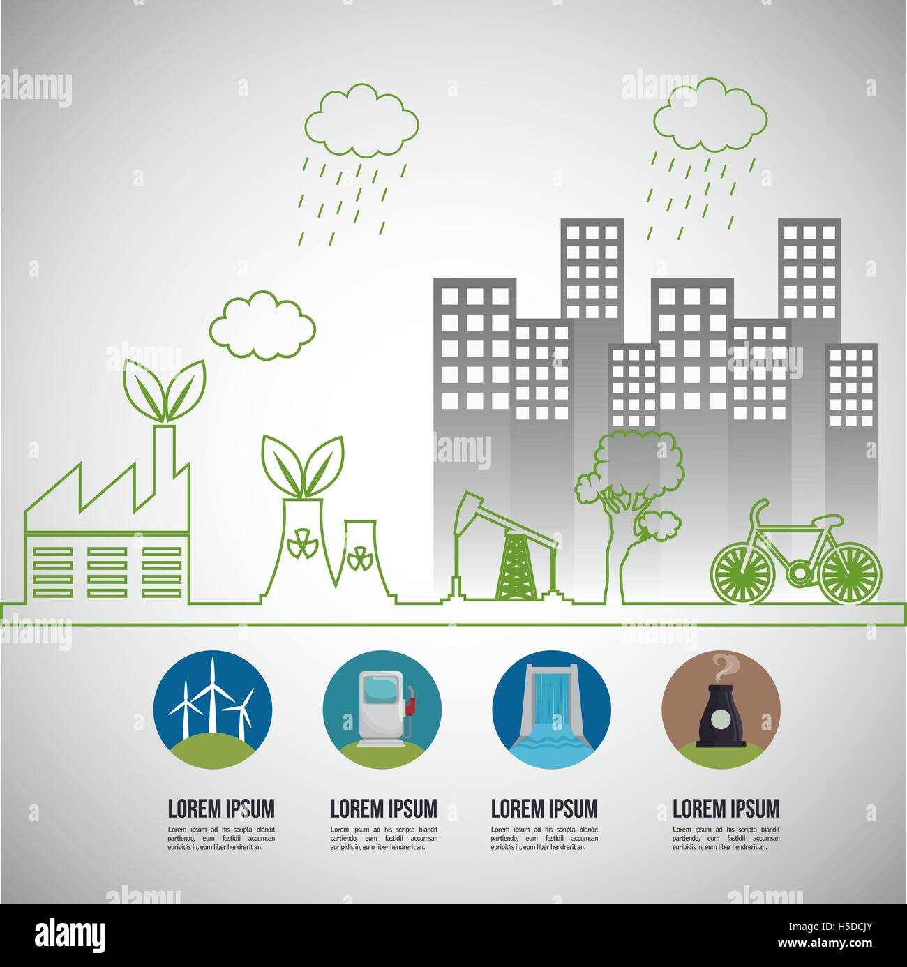 environmental issues infographic elements - Stock Vector
