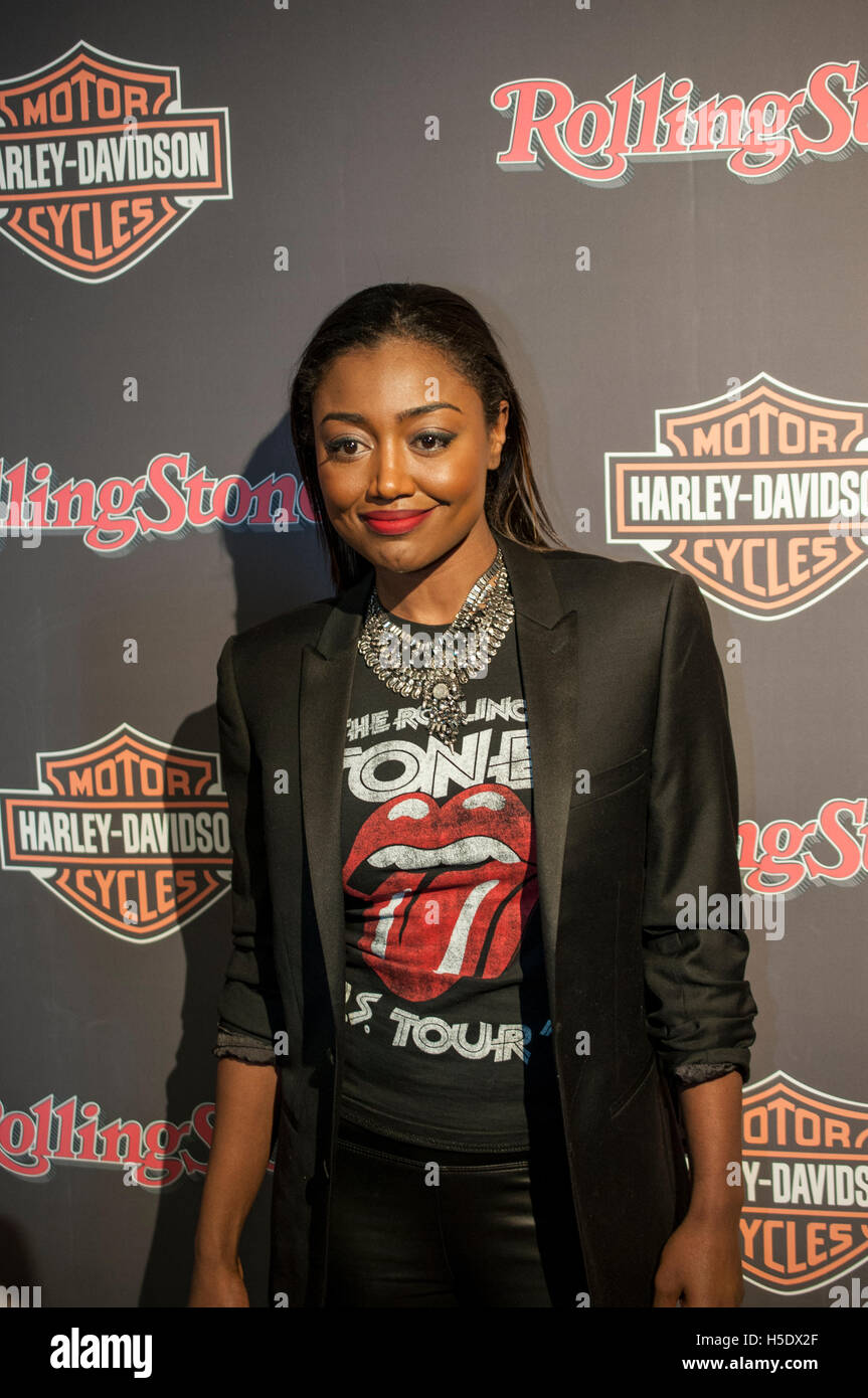 Patina Miller attends Harley-Davidson and Rolling Stone Celebrate New York Fashion Week on February 10, 2016 at - Stock Image