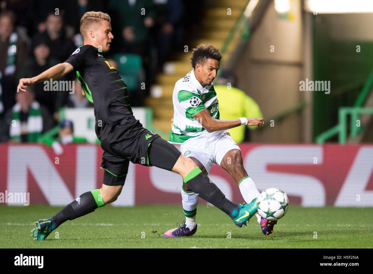 Celtic Park, Glasgow, Scotland. 19th Oct, 2016. Soccer: Champions League, group stage, group C, third match day, - Stock Image