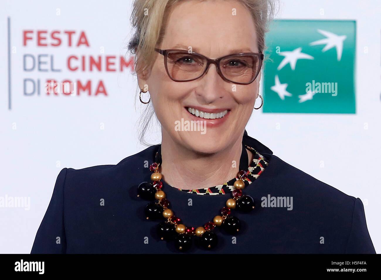 Roma, Italia. 20th Oct, 2016. Meryl Streep Rome 20th October 2016. Rome Film Fest XI edition.  Credit:  insidefoto - Stock Image