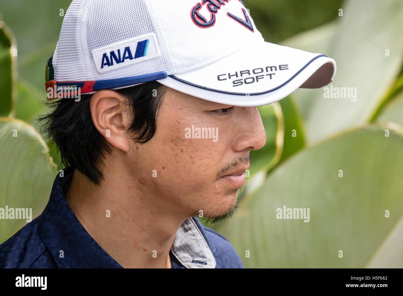Kuala Lumpur, Malaysia. 20th Oct, 2016. Ryo Ishikawa at the CIMB PGA 2016 Golf Championship at TPCKL golf course - Stock Image