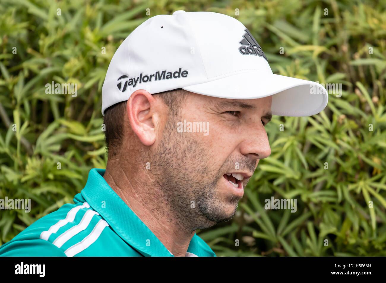 Kuala Lumpur, Malaysia. 20th Oct, 2016. Sergio Garcia at the CIMB PGA 2016 Golf Championship at TPCKL golf course - Stock Image