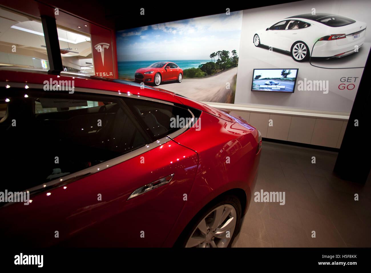 Mission Viejo, California, USA. 18th Mar, 2014. Tesla model S in the ...