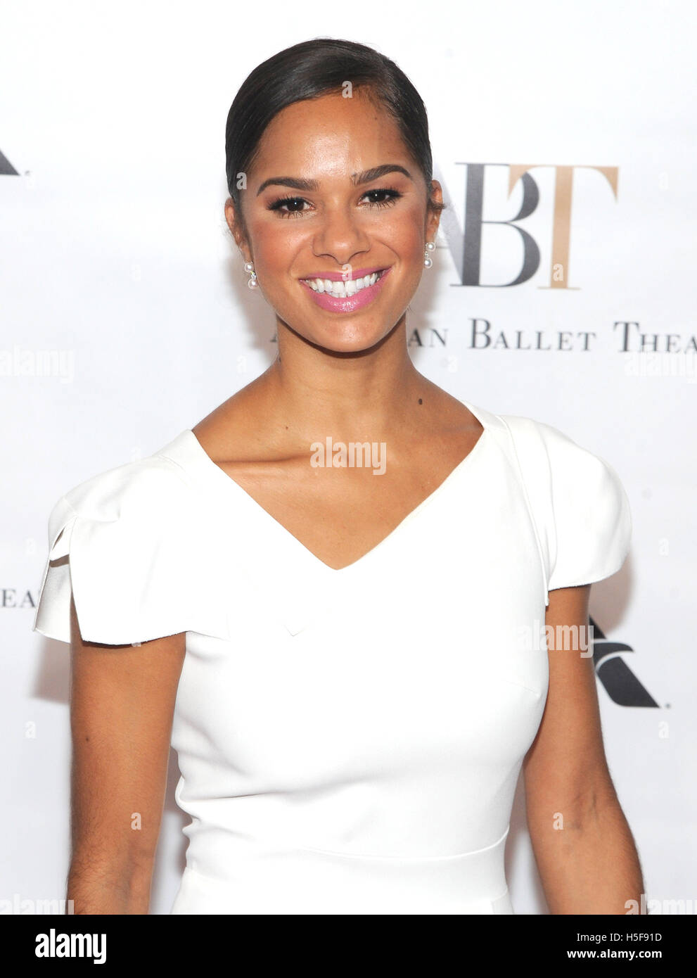 New York, NY, USA. 20th Oct, 2016. Misty Copeland attends the American Ballet Theater 2016 Fall Gala on October - Stock Image
