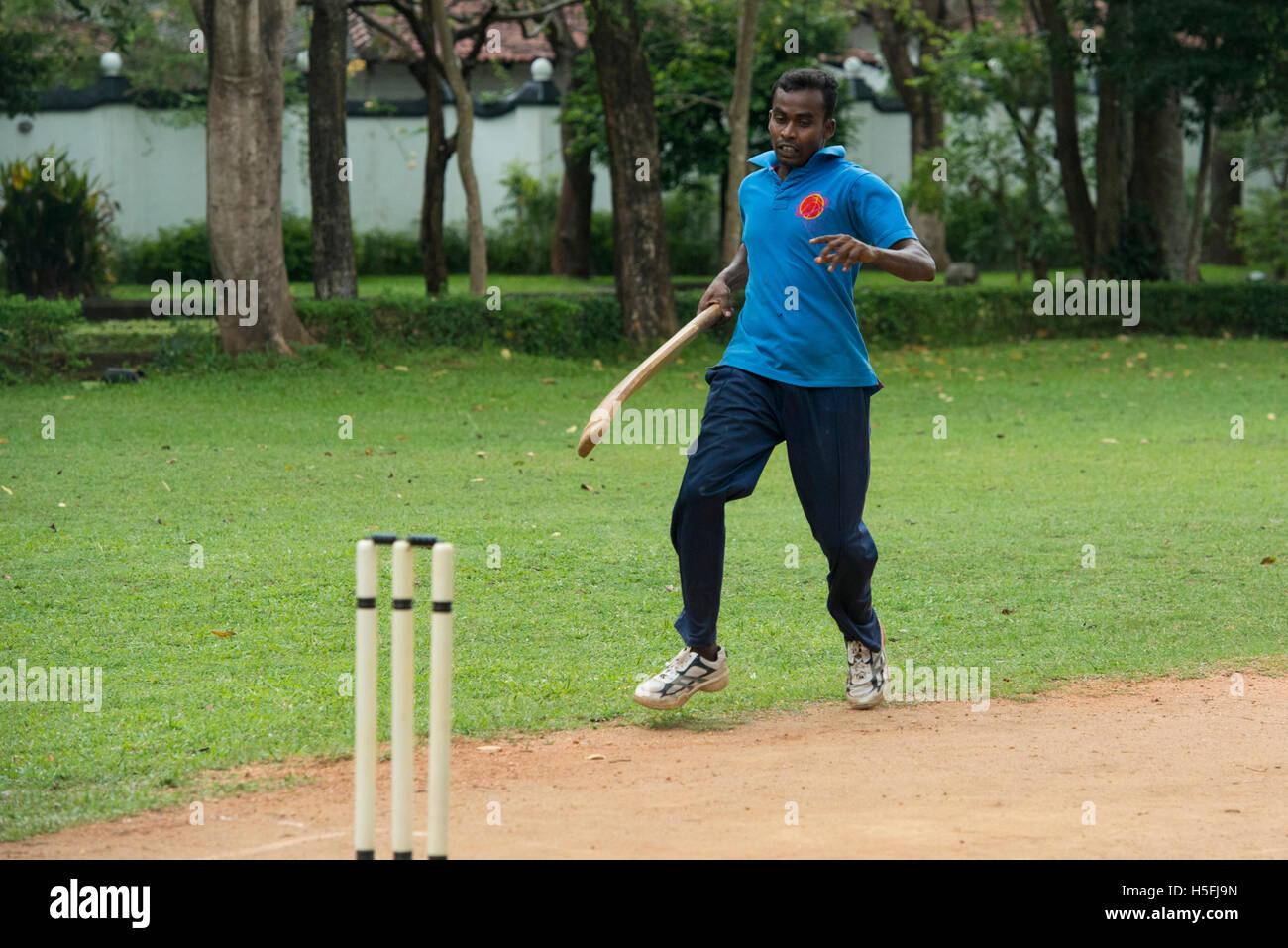 Cricket game, Sri Lanka - Stock Image