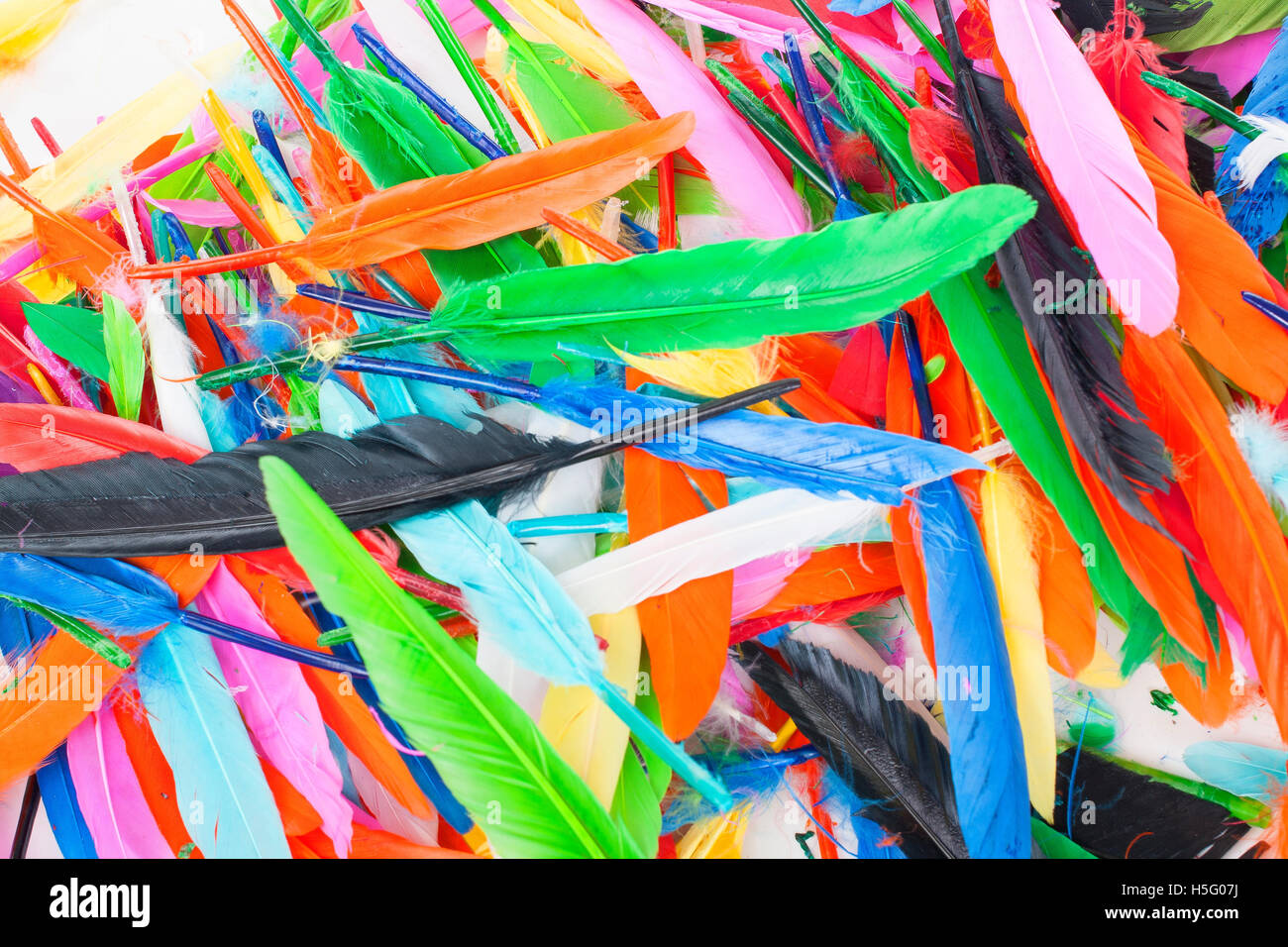 Creative Hobby Tools Real Colored Bird Feathers For Dresses Decorations Or Any Other Use Texture Background From Rainbow Colors