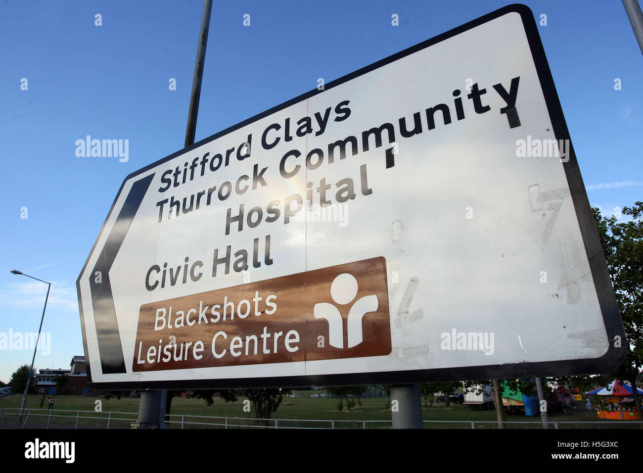 A Thurrock Sports Hub, based around the Blackshots site in Grays is being discussed by Thurrock Council and would Stock Photo