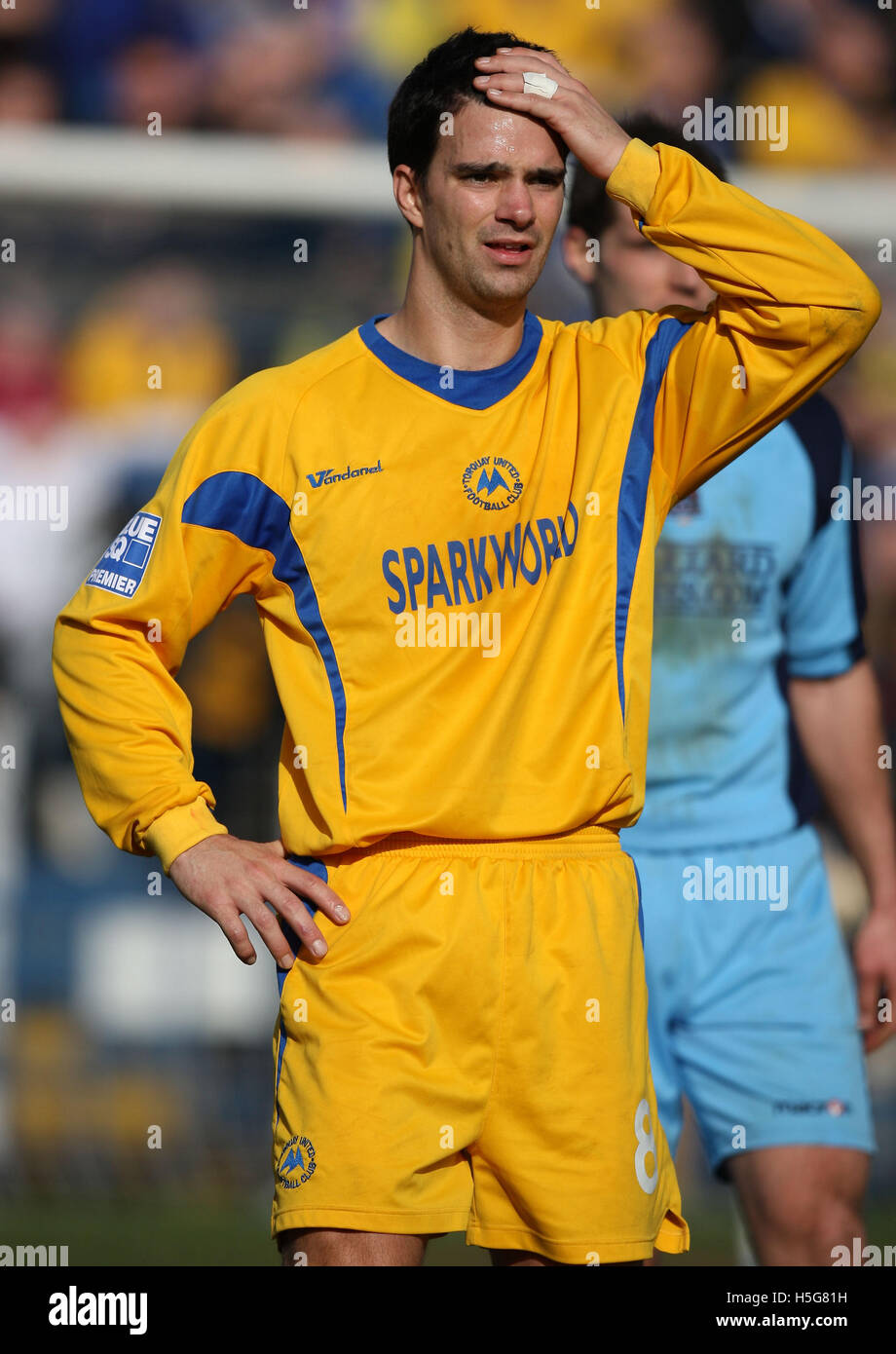Tim Sills of Torquay - Grays Athletic vs Torquay United - Blue Square Premier at the New Rec - 01/03/08 Stock Photo