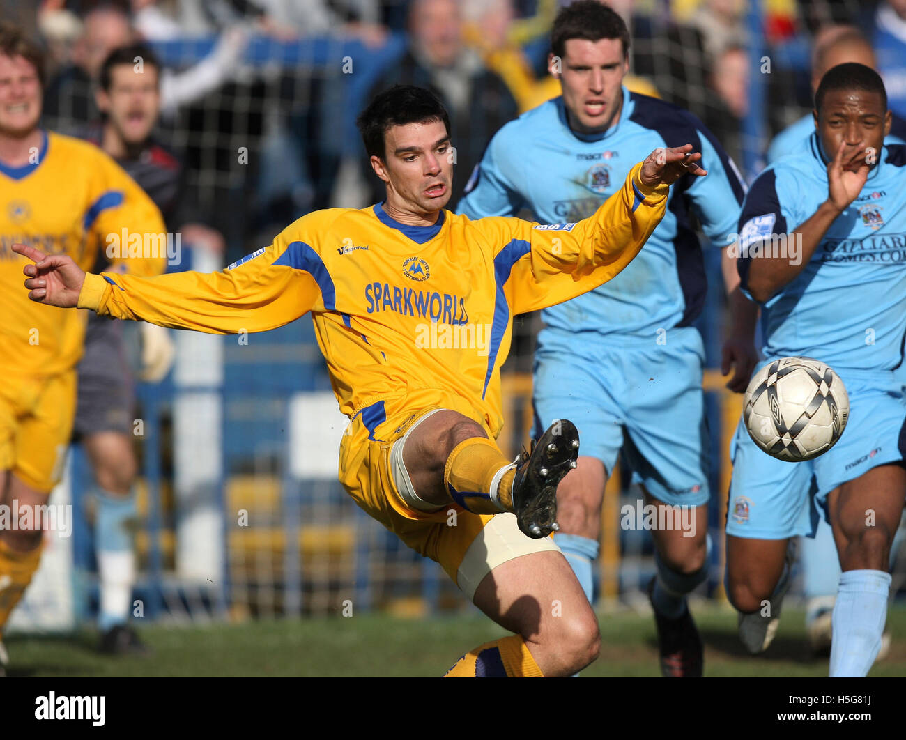 Tim Sills of Torquay - Grays Athletic vs Torquay United - Blue Square Premier at the New Rec - 01/03/08 - Stock Image