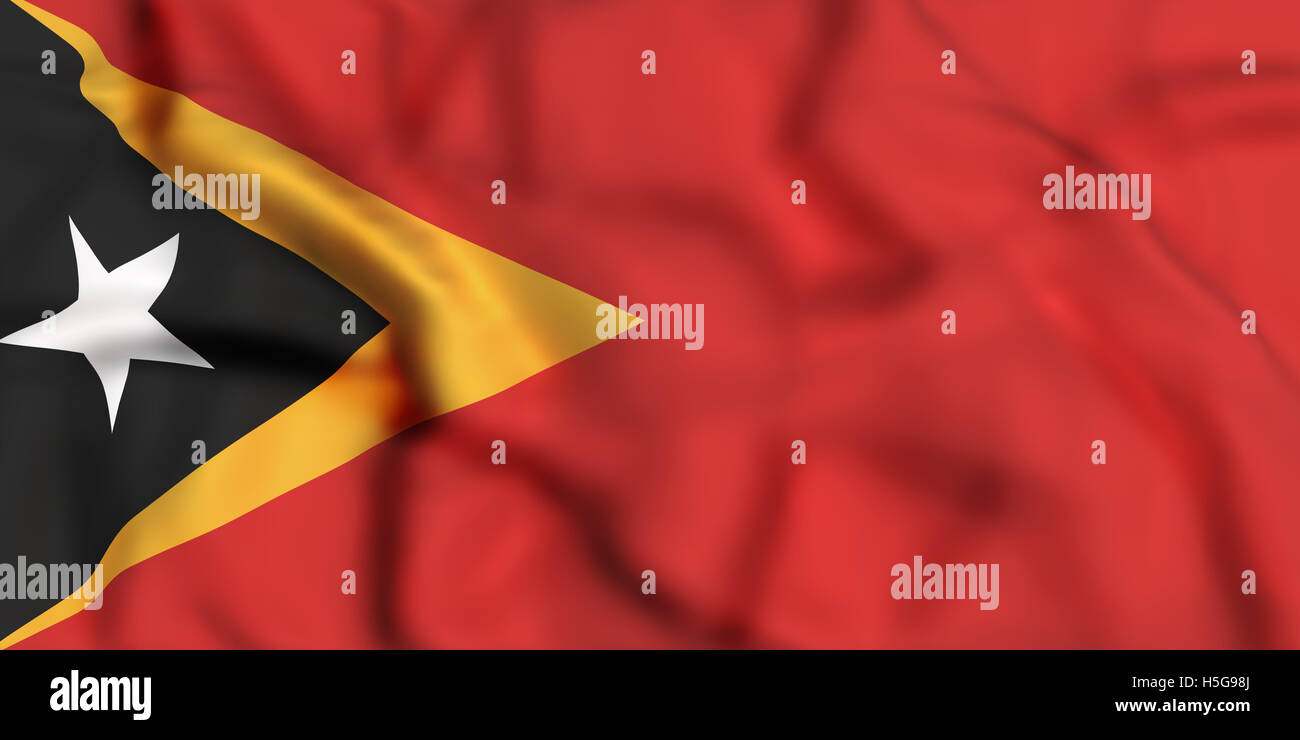 3d rendering of Democratic Republic of Timor-Leste flag waving Stock Photo