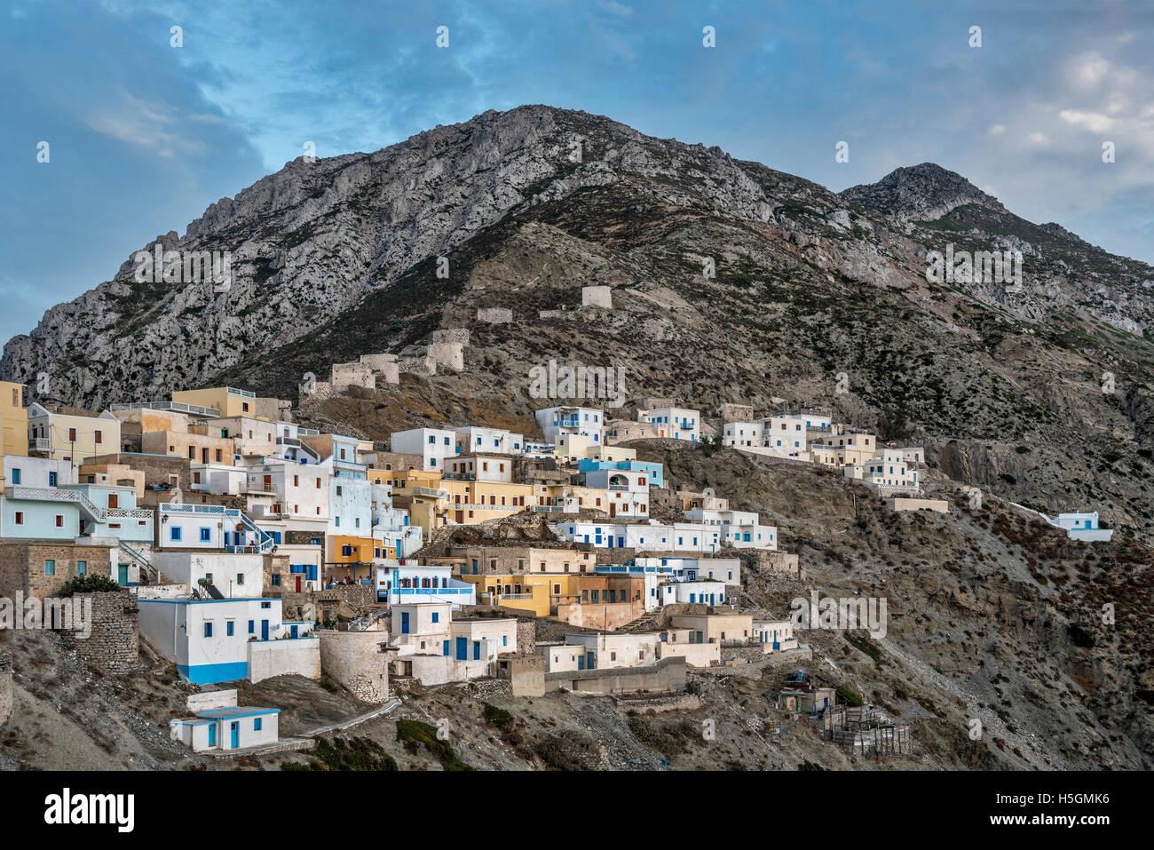 Olympos village Karpathos Island Greece Stock Photo