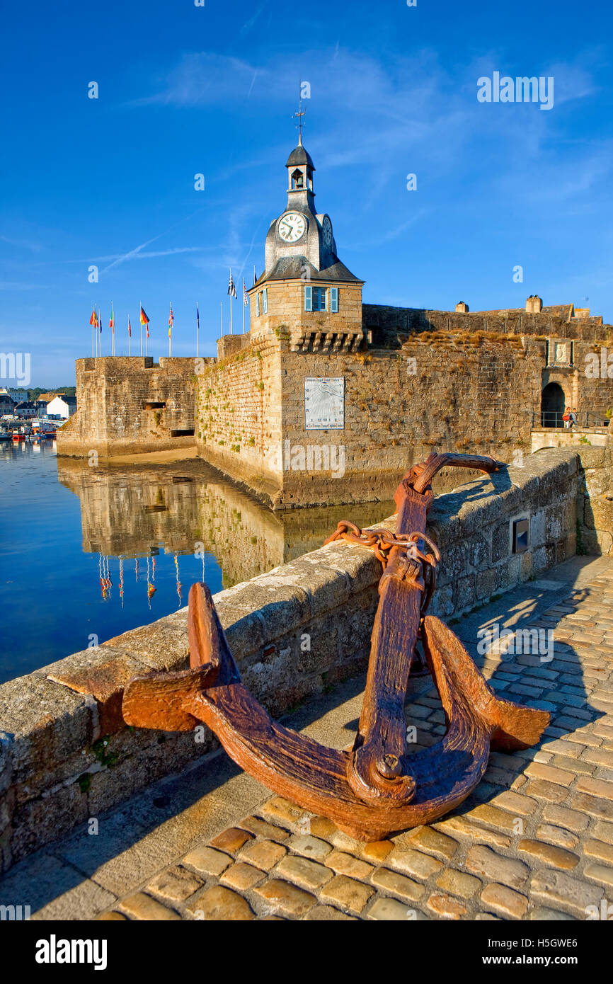 The village of Concarneau  in Brittany, France - Stock Image