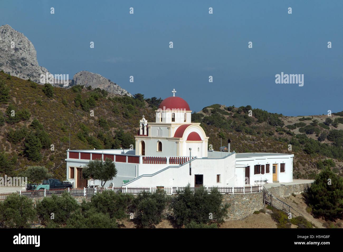 Scenic View of Karpathos island Greece Stock Photo