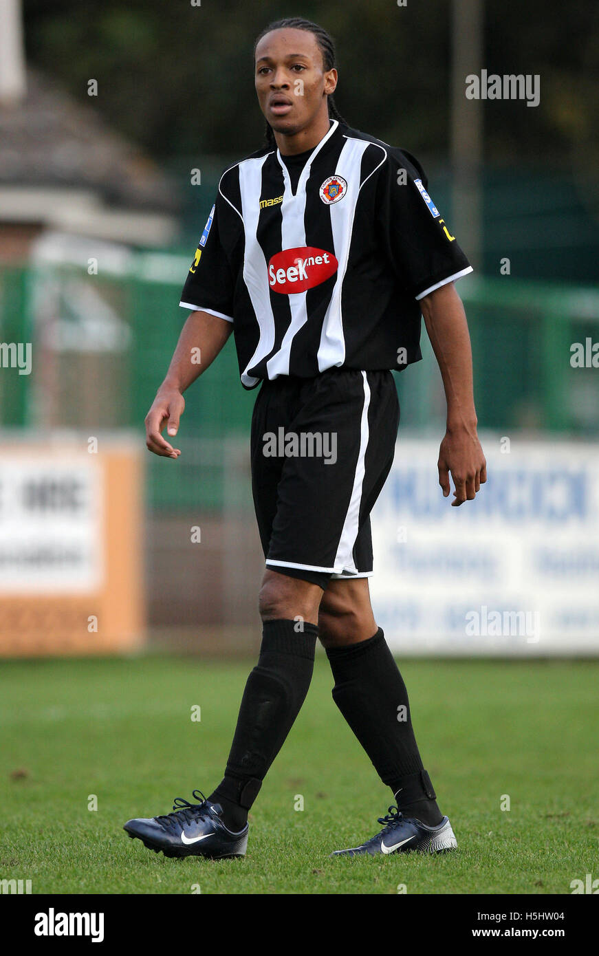 Wesley Thomas of Fisher - Thurrock vs Fisher Athletic - Blue Square South at Ship Lane - 03/11/07 - Stock Image