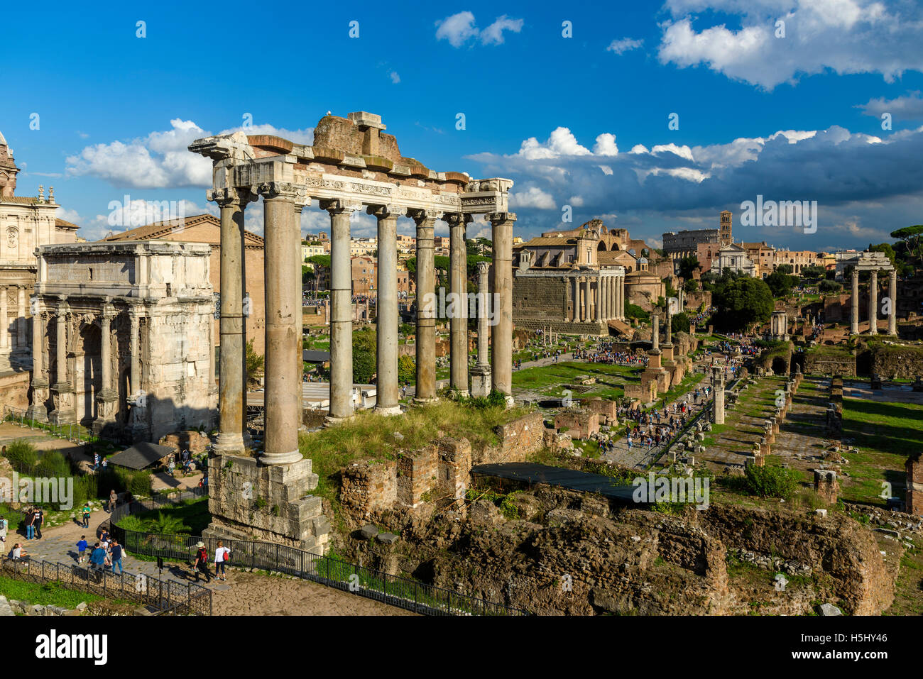 Roman Forum, Rome, Lazio, Italy Stock Photo