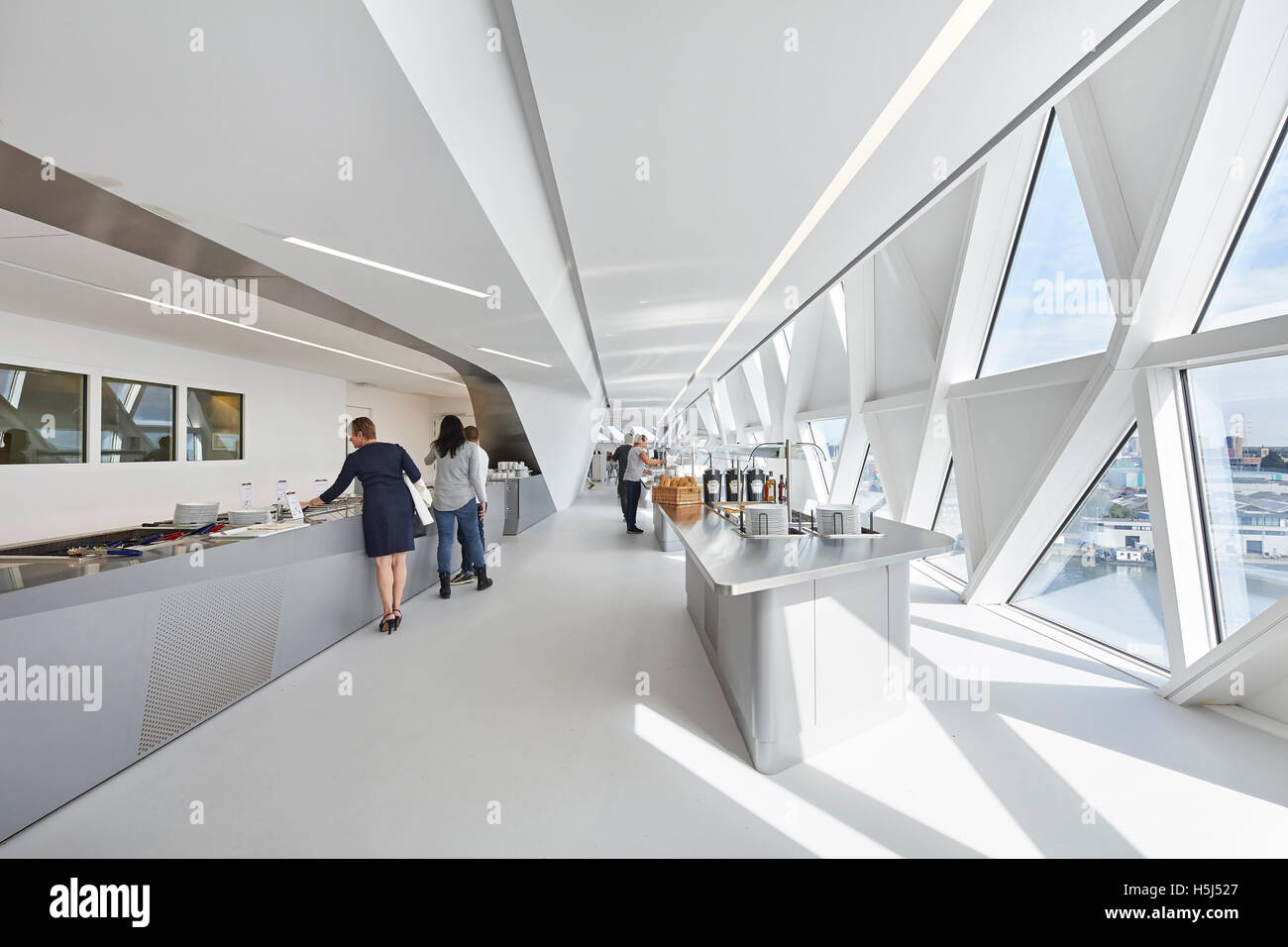 Restaurant With Window Wall Port House Antwerp Belgium Architect Stock Photo Alamy